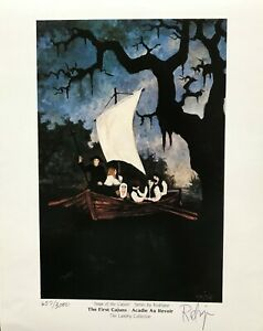 GEORGE RODRIGUE SAGA OF THECAJUNS - FIRST CAJUNS 8 x 10 SIGNED & NUMBERED W/COA