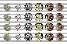 (24) Koi Fish Bottle Cap Image Pre-Cut 19mm