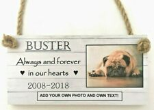 PERSONALISED PHOTO PET DOG  ANY TEXT/ OWN WORDING plaque remembrance memorial