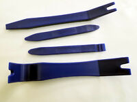Car Audio Dash Trim Pry Removal Tools Plastic Blue - Set of 4 #DTM4