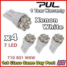 100 x 7 LED HID XENON WHITE 501 T10 W5W SIDELIGHT / NUMBER PLATE / INTERIOR BULB