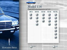 MERCEDES BENZ FACTORY SERVICE MANUAL 280S 280SE 300SD 450SE 450SEL W116  '73-'80