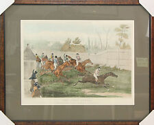Custom Framed Art - Henry Thomas Alken - The First Hurdle - Horse Racing