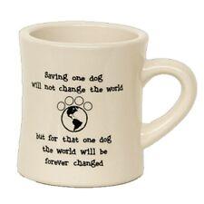 Dog Speak 10 oz Diner Mug for Dog Lovers - Saving One Dog