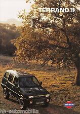 Nissan Terrano II Prospekt 6/95 brochure 1995 Auto PKWs Japan Asien Autoprospekt