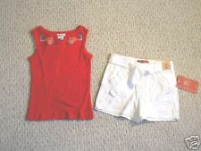 NWT ADJUSTABLE WAIST SHORTS & RIBBED TANK GIRLS 4/5