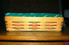 Longaberger Woven Traditions Bread Basket Signed by 3