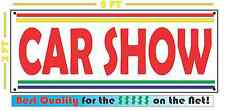 CAR SHOW Banner Sign NEW Larger Size with Retro Vintage Colors 4 Collector shop
