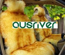 Golden Colour Premium Australian Sheep Skin Car Long Wool Front Seat Cover