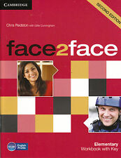 CAMBRIDGE Face2face Elementary Second Edition Workbook with Key @BRAND NEW@