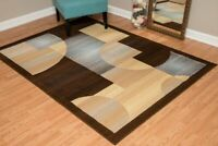 BLUE/BROWN CIRCLE MODERN DESIGNER AREA RUG FOR THE HOME 8X10 HOLIDAY DECOR