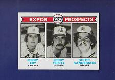 Fry/Pirtle/Sanderson Expos Prospects 1979 TOPPS Baseball #720 (EXMT)