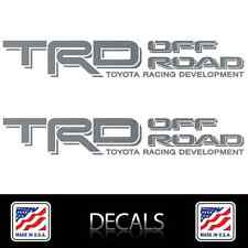 (2) TRD OFF ROAD Decals Stickers Matte Silver Vinyl Toyota Tacoma Tundra 4Runner