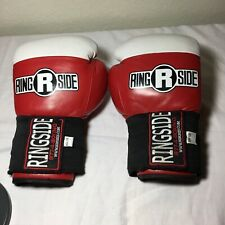 Ringside Sparring Gloves Red/White, 10-Ounce