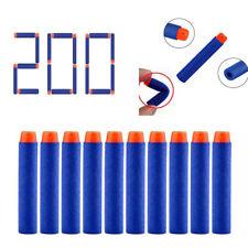 200pcs Bullet Soft Darts Foam Round Head Blaster For NERF Kids Toy Gun N-Strike