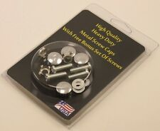 Metal License Plate Screw Covers WITH SCREWS - Chrome