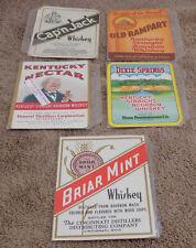 10 Vintage Liquor Labels Kentucky & Cincinnati Bourbon Whiskey Great Graphics