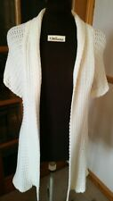 Cream Knitted Long Cardigan Size 12/14