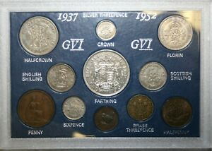 1937 to 1952 George VI Complete Cased Year Sets Including Silver Very Fine