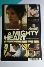 A MIGHTY HEART ANGELINA JOLIE COVER ART MINI POSTER BACKER CARD (NOT a movie)