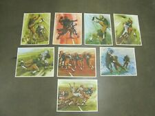 8-1965 Green Bay Packers  printed by Mobile Oil. Artist Bomberger