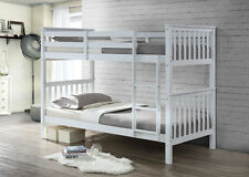 BRAND NEW BUNKBED IN WHITE SOLID WHITE PINE WOOD TWIN BUNK BED FRAME BEDROOM