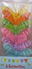 Easter Bonnet Decorating Set - 6 Coloured Butterflies Decoration