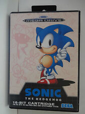 "SEGA MEGA DRIVE - "" SONIC THE HEDGEHOG "" - UK PAL....BOXED & COMPLETE"