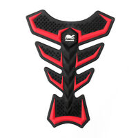 Motorcycle Bike Rubber Tank Pad Gas Protector Sticker Cover Fish Bone Pad Red UK