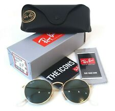 Ray-Ban RB3447 001 50-21 Round Sunglasses Metal Gold Lenses Green Classic G-15