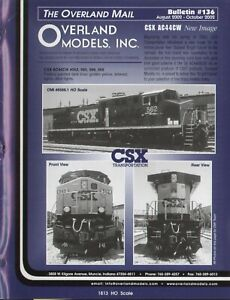 catalogo - Rivista OVERLAND MODELS MAIL Bulletin 136 2002 + prices USD  bb