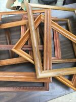 Large Wood Oak Picture Art Frames Lot 16x20 Rustic Shabby Chic Project