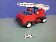 (K96) playmobil camion pompier vintage de 1976 ref 3236