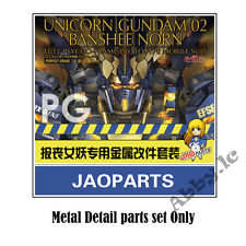 Gunpla Metal Detail Up Parts Set for PG 1/60 Banshee Unicorn 2 Gundam  Model Kit