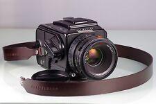 Premium Film SLR 6x6 HASSELBLAD 205TCC +2.8/80 Planar T Cfe +E12 near Mint