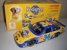 2001 KEN SCHRADER signed 1/24 M&M'S PEDIGREE DOG FOOD NASCAR DIECAST CAR PONTIAC