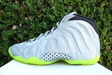 NIKE AIR LITTLE POSITE ONE GS SZ 6.5 Y METALLIC SILVER CAMO LIME VOLT 644791 001