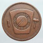 USA FREEMASON Norwich CONNECTICUT Lodge No 4 VINTAGE Penny Masonic Token i90629