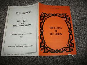 The Taming of the Shrew theatre programme (1970, John Nettles, David Suchet)