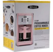 Pink Bella 12 Cup Programmable Coffee Maker New