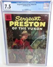 Sergeant Preston of the Yukon # 19 - CGC 7.5 - 1956 - Dell - Photo Cover