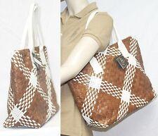GHIBLI Vera Pelle Leather Woven Tote Satchel Handbag Bag ITALY NWT falor falorni