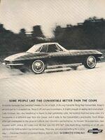 1958 CORVETTE ORIGINAL GM AD BRAND NEW AND BRED FOR ACTION VETTE AD