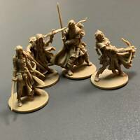 4 heroes fit for Dungeons & Dragon D&D Board Game Miniatures figure Toys