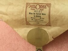 Melodee Player Piano Roll When the Harvest Moon is Shining 4031 By Frank Banta