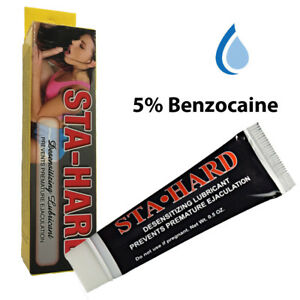 Sta-Hard Male Penis Enhnacer Numbing Delay Prolong Climax Cream 5% Benzocaine