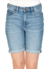 Lee Damen Jeans Short Long Boyfriend -Blau - Salina