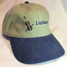 Luthier Strapback Hat Cap Wood String Instrument Maker Repair One Size Excellent
