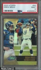 2002 eTopps Drew Brees San Diego Chargers PSA 9 MINT