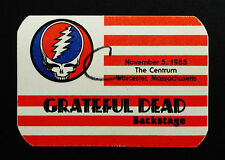 Grateful Dead Backstage Pass Syf Usa American Flag 11/5/1985 Centrum Mass Ma Us